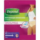 Depend белье впитывающее женское L/XL, 9 шт