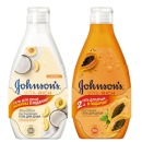 """Johnson`s гель для душа Vita-Rich """"Папайя"""" + гель для душа """"С йогуртом, Кокосом и экстрактом Персика"""", 250 мл+ 250 мл"""