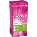 "Carefree cалфетки ""Aloe"" + прокладки ""Ultra normal plus"", 20 шт + 2 шт"