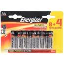 "Energizer батарейки ""MAX E91"" щелочные, АА, 8 шт + 4 шт"