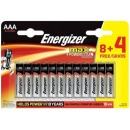 "Energizer батарейки ""MAX E92"" щелочные, ААА, 8 шт + 4 шт"