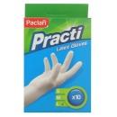 Paclan перчатки латексные, L,10 шт
