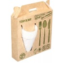 Boyscout набор для пикника биоразлагаемый (тарелки, стаканы, вилки, ложки, ножи), по 6 шт