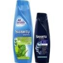 """Shamtu шампунь """"Глубокое очищение и свежесть"""" с экстрактами трав + шампунь """"Густые и сильные"""" с укрепляющей технологией, 650 мл + 360 мл"""