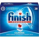 finish средство для мытья посуды в посудомоечных машинах в таблетках, 28 шт