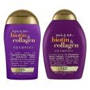 OGX шампунь для лишенных объема и тонких волос с биотином и коллагеном + кондиционер для лишенных объема и тонких волос с биотином, 385 мл + 385 мл
