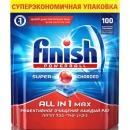 "finish таблетки для мытья посуды в посудомоечных машинах ""All in1. Max"", 100 шт"