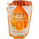 "Natural LG средство для мытья посуды ""Orange"" с ароматом апельсина, 1200 мл"