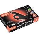 Paclan перчатки нитриловые, черные, размер L, 50 шт