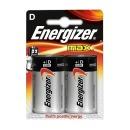 Energizer батарейка алкалиновая Max HR20/E95 тип D, 2 шт