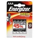 Energizer батарейка алкалиновая Max Plus LR03/E92 тип ААА, 4 шт