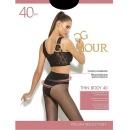"Glamour колготки ""Thin Body 40"" nero, размер  2"