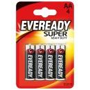 "Energizer батарейки ""Eveready Super Heavy Duty AA"" солевые, (блистер), 4 шт"