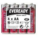 """батарейки """"Eveready"""" AA солевые, 4 шт (пленка)"""