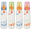 бутылочка пластмассовая, 240 мл + соска с вентиляцией из латекса, размер 1