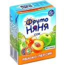 """Фруто Няня сок """"Яблоко, персик"""" с 5 месяцев, 200 мл"""