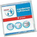 Paclan салфетки 180x180 мм. для чистки, губчатые, 2 шт