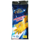 Dr.Clean хозяйственные перчатки резиновые, размер S, тон оранжевые, 1 пара