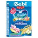 """Bebi Premium каша молочная """"Для сладких снов"""" 3 злака с яблоком и ромашкой, с 6 месяцев, 200 г"""