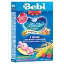 """Bebi Premium каша молочная """"Для сладких снов"""" 3 злака с малиной и мелиссой,  с 6 месяцев, 200 г"""