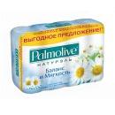 """Palmolive мыло """"Натурэль Баланс и Мягкость"""" с экстрактом ромашки и витамином Е, 4 х 90 г"""