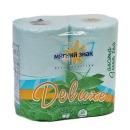 "Мягкий знак туалетная бумага ""Deluxe aroma. Зеленый чай"" ароматизированная, с тиснением, 2-х слойная, 4 рулона, зеленый"