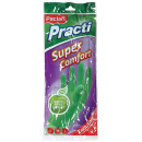 """Paclan перчатки резиновые """"Practi. Super Comfort"""" с ароматом зеленого яблока, зеленые, размер М"""