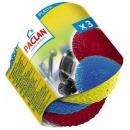 Paclan мочалки для посуды пластиковые, 3 шт