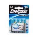 "Energizer батарейка алкалиновая ""Maximum"" тип АА, 4 шт"