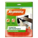 Хозяюшка Мила салфетка для полировки микрофибра 30 х 30 см КС-02