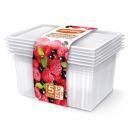 контейнеры для заморозки ягод, овощей, фруктов 1,5 л, 5 шт