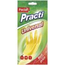 """пара резиновых перчаток """"Practi. Universal""""размер 6-6.5 желтые S МIX"""