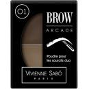 """Vivienne Sabo тени для бровей """"Brow Arcade"""" двойные, тон 01"""