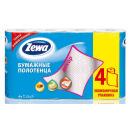 """Zewa полотенца кухонные """"Декор"""" 2 слойные, 4 шт"""