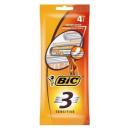 """Bic станок бритвенный """"Bic 3 Sensitive"""" 3 лезвия для чувствительной кожи, 4 шт"""