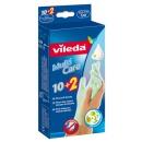 Vileda перчатки одноразовые с бальзамом 10 + 2 шт S/M