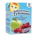 """Бабушкино Лукошко сок """"Яблоко-вишня"""" осветленный, с 5 месяцев, 200 мл"""