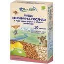 """Fleur Alpine каша """"Органик"""" молочная пшенично-овсяная с кусочками груши и яблока с 10 месяцев, 200 г"""