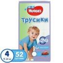 Huggies подгузники-трусики для мальчиков, размер 4, 9-14 кг, 52 шт