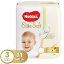 """Huggies подгузники """"Elite Soft"""" размер 3, 5-9 кг, 21 шт"""