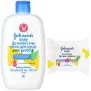 Johnson`s baby детская гель-пена для купания, 300 мл + Johnson's baby влажные салфетки антибактериальные, 25 шт