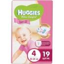 """Huggies подгузники для девочек """"Ultra Comfort"""" размер 4, 8-14 кг, 19 шт"""