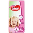 """Huggies подгузники для девочек """"Ultra Comfort"""" размер 5, 12-22 кг, 64 шт"""