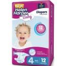 Helen Harper подгузники детские Baby Maxi 7-14кг, 12 шт