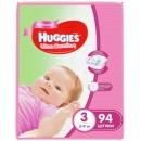 """Huggies Huggies подгузники для девочек """"Ultra Comfort"""" размер 3, 5-9 кг, 94 шт"""