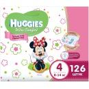 """Huggies подгузники для девочек """"Ultra Comfort"""" размер 4, 8-14 кг, 126 шт"""