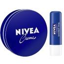 Nivea набор бальзамов для губ «Снежная нежность», 4,8г+16,7г