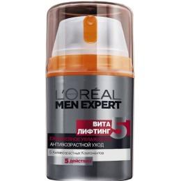 "L'Oreal Men Expert крем-уход ""Виталифтинг 5"" тонизирующий, увлажняющий, антивозрастной, 50 мл"