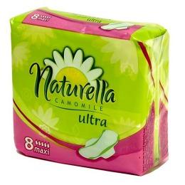 "Naturella ""ultra"" женские гигиенические прокладки camomile maxi single 8 шт"