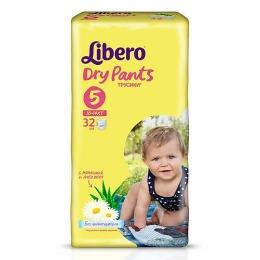 "Libero подгузники-трусики ""Dry Pants"" 10-14 кг, 32 шт"
